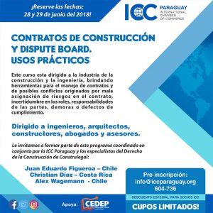 Curso sobre de Contratos de construcción y Dispute Boards