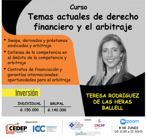 Curso sobre temas actuales de derecho financiero y el arbitraje