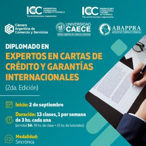 Diplomado de expertos en cartas de crédito y garantías internacionales